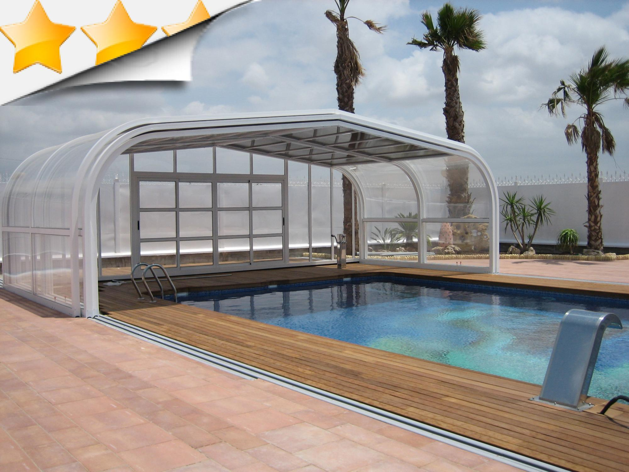 Abri piscine t lescopique vsun s curit par lpc for Accessoires piscine 04