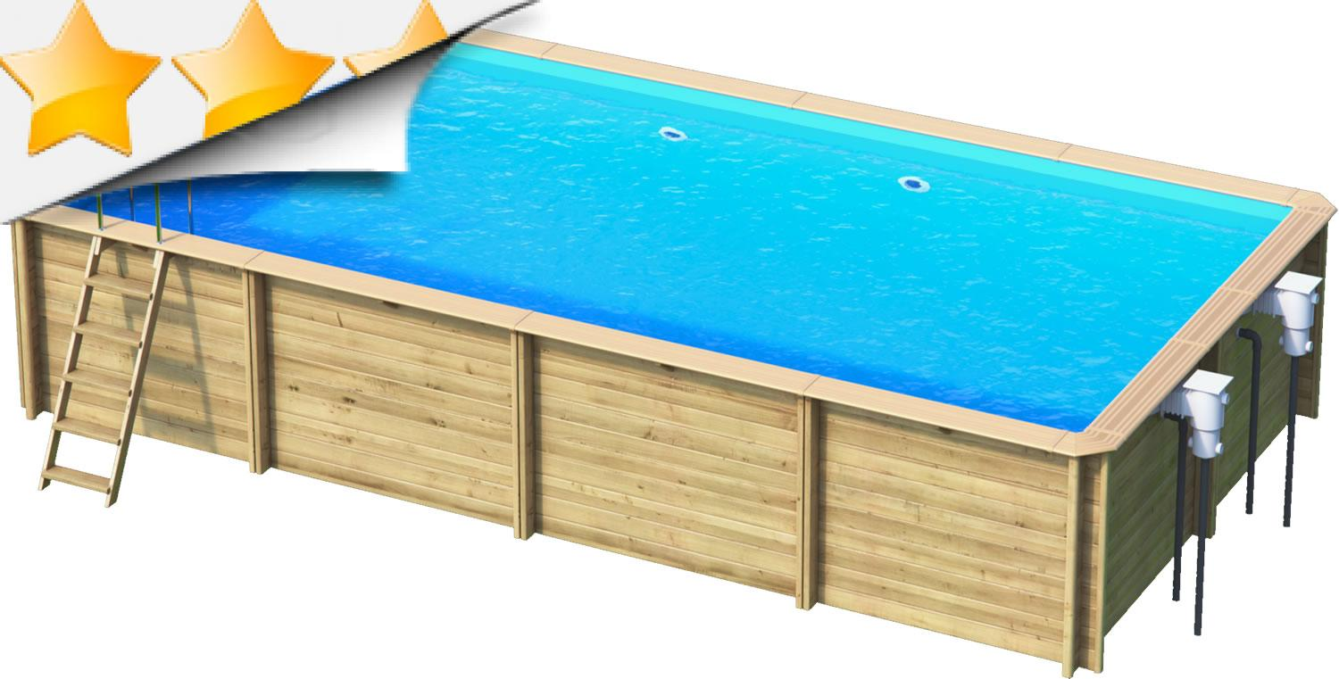 odyssea rectangle 6x3 piscine bois