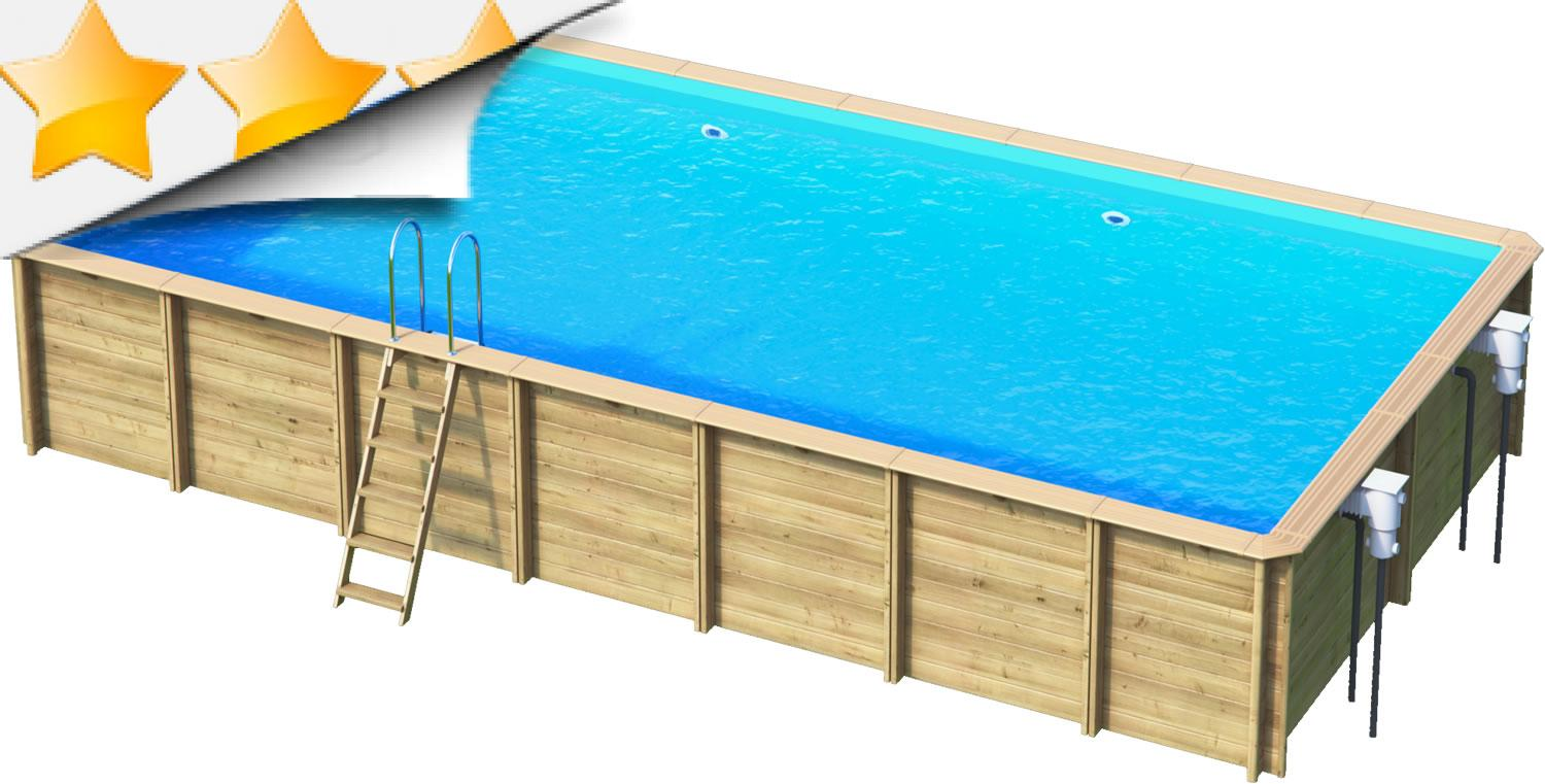 odyssea rectangle 8x4 piscine bois
