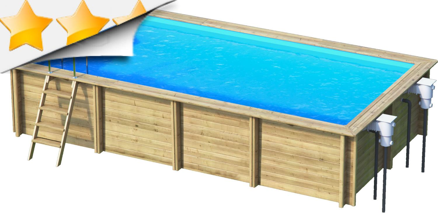 weva rectangle 8x4 piscine bois