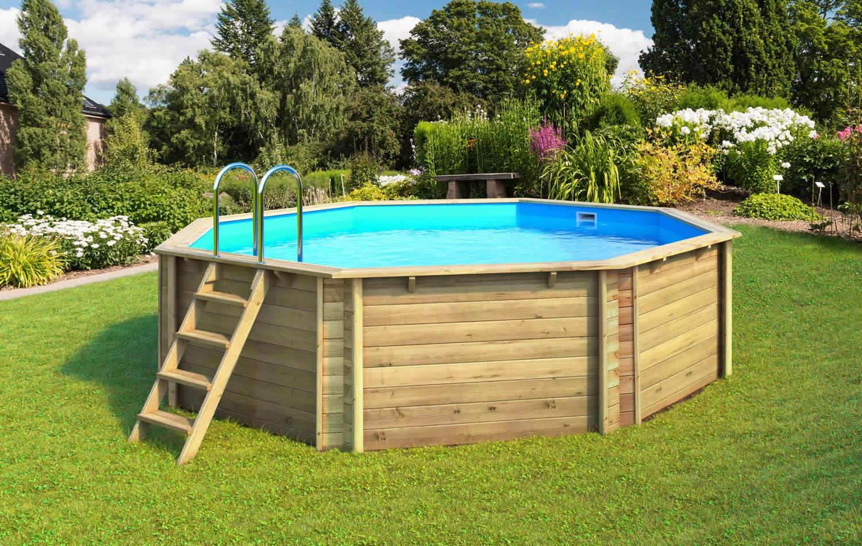 Piscine bois composite semi enterr e for Vente de piscine hors terre
