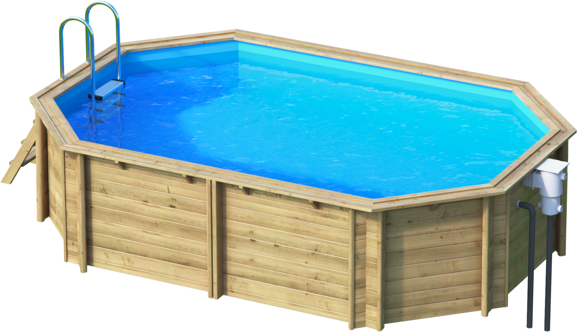 Tropic octo 450 piscine bois tropic chez lpc for Piscine bois octogonale