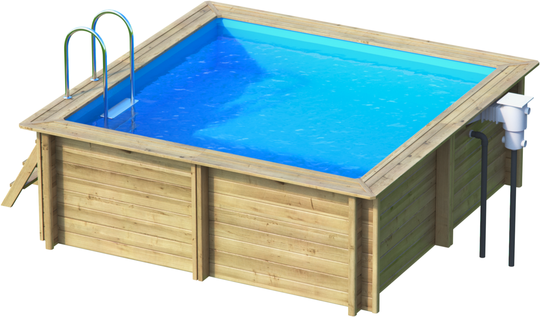 Weva carre 3x3 piscine bois weva par lpc for Piscine bois enterrable