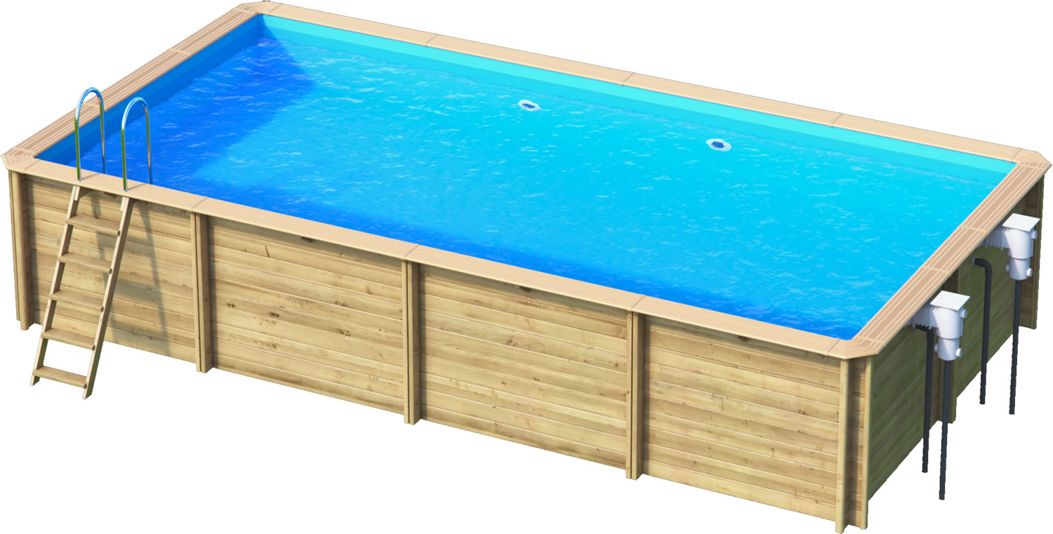 Odyssea rectangle 6x3 piscine bois par lpc for Piscine coque 3x3