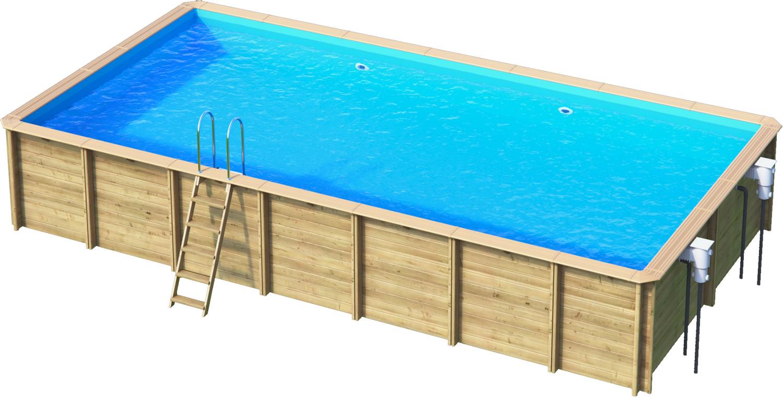 odyssea rectangle 8x4 piscine bois par lpc. Black Bedroom Furniture Sets. Home Design Ideas