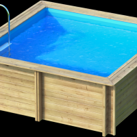 weva carre 3x3 piscine bois weva par lpc. Black Bedroom Furniture Sets. Home Design Ideas