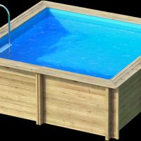 Weva carre 3x3 piscine bois weva par lpc for Piscine bois 3x3